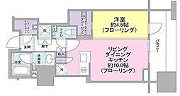 クラッシィハウス神田錦町 3階1LDKの間取り