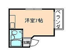 サカエマンション梅香[4階]の間取り