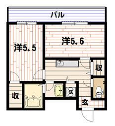 エスコート横浜関内[8階]の間取り
