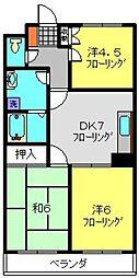 カディール二俣川[2階]の間取り