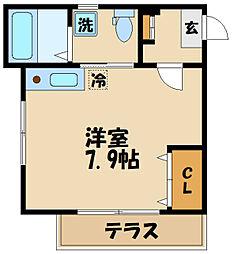 コンフォート聖蹟桜ヶ丘壱番館 2階ワンルームの間取り