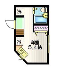 Wing Apartsments  Ikebukuro 1階ワンルームの間取り