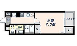 Osaka Metro谷町線 阿倍野駅 徒歩14分の賃貸マンション 4階1Kの間取り