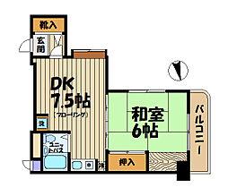 ペルソナージュ横浜[301号室]の間取り
