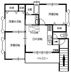 飯島邸[2階]の間取り