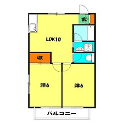 妙蓮寺ハウス[2階]の間取り