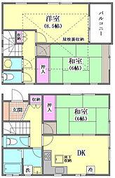 [一戸建] 東京都大田区大森北6丁目 の賃貸【/】の間取り