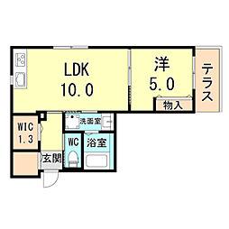 (仮称)神戸市灘区下河原通ヘーベルメゾン 1階1LDKの間取り