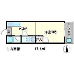 サニーコーポ岡崎[1階]の間取り
