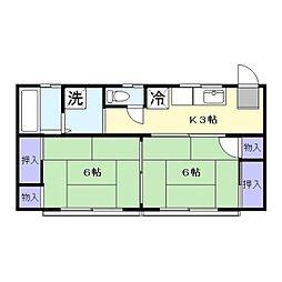 渡辺アパート[202号室]の間取り