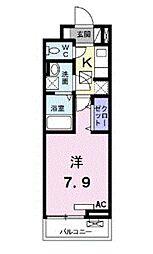 東武伊勢崎線 越谷駅 徒歩3分の賃貸アパート 1階1Kの間取り