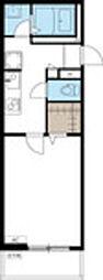JR中央線 立川駅 徒歩4分の賃貸アパート 3階1Kの間取り