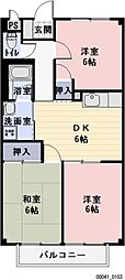 愛知県一宮市浅野の賃貸アパートの間取り