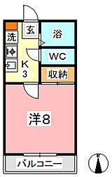 カランドリエ松島[106号室]の間取り
