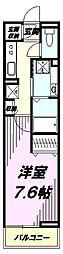 JR中央線 豊田駅 徒歩7分の賃貸アパート 2階1Kの間取り
