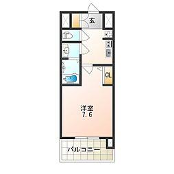 アドバンス大阪城シュアーヴ 7階1Kの間取り