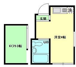 サンハイツ蒲田雑色[2階]の間取り
