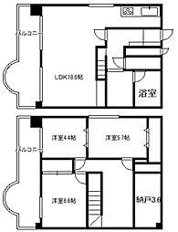 北海道札幌市中央区南四条東5丁目の賃貸マンションの間取り