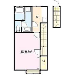 TKアパートメント[202号室]の間取り