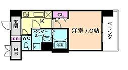 レジュールアッシュ梅田北[11階]の間取り