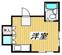 尾崎ハウス[2階]の間取り