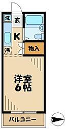 京王相模原線 京王多摩センター駅 バス8分 落合6丁目下車 徒歩3分の賃貸マンション 1階1Kの間取り