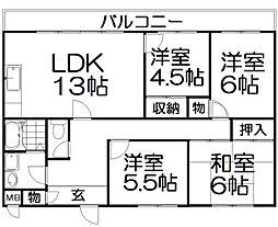 ホープマンション[4階]の間取り