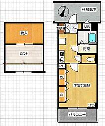 第一光和ビル[304号室]の間取り
