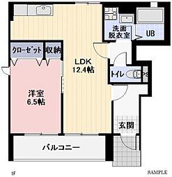 静岡県磐田市鎌田の賃貸アパートの間取り