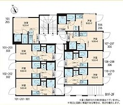 JR総武線 大久保駅 徒歩7分の賃貸アパート 1階ワンルームの間取り