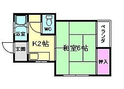 甲田ハイツ[1階]の間取り