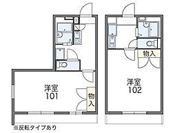 レオパレスNATUKAWA[104号室]の間取り