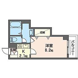 仮)新松戸4丁目ホテルライクシャーメゾン 3階1Kの間取り