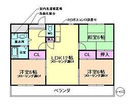 ハピネス523[4階]の間取り