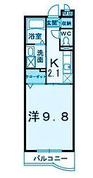 カルムメゾン弐番館[2階]の間取り