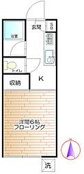 コーポみやこ[1階]の間取り