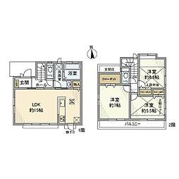 [一戸建] 東京都小平市花小金井6丁目 の賃貸【/】の間取り