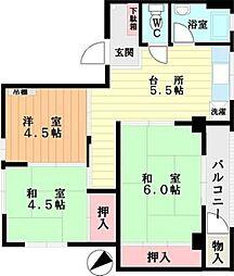 藤井マンション[305号室]の間取り