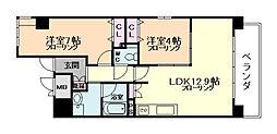 ルチューレ西梅田[8階]の間取り