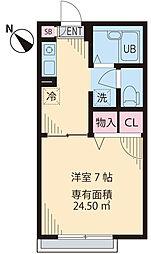 東京都西東京市南町6丁目の賃貸アパートの間取り