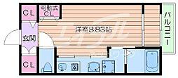 大阪府吹田市千里山東1丁目の賃貸マンションの間取り
