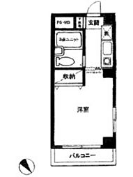 ハイネス鹿島田[4階]の間取り