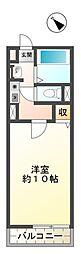 愛知県豊田市本地町4丁目の賃貸アパートの間取り