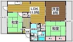 村第2ビル[203号室]の間取り
