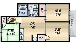 エミネントセジュールA棟[2階]の間取り