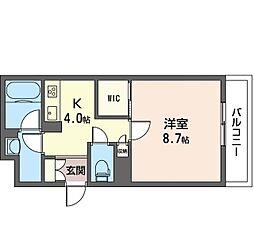 仮)豊島区池袋本町4丁目シャーメゾン 2階1Kの間取り