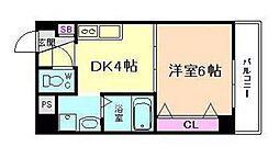 ノブパシオン北梅田[4階]の間取り