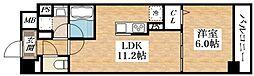 Osaka Metro谷町線 平野駅 徒歩6分の賃貸マンション 6階1LDKの間取り