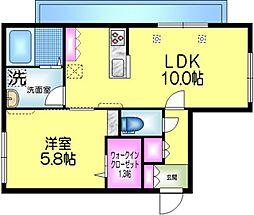 東武伊勢崎線 曳舟駅 徒歩5分の賃貸マンション 3階1LDKの間取り