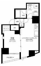 GALICIA RESIDENCE HIROO 11階1LDKの間取り